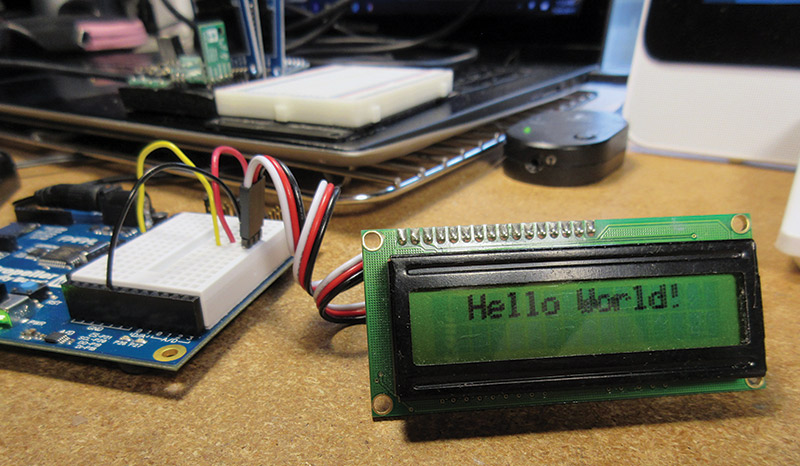 Hello World On LCD
